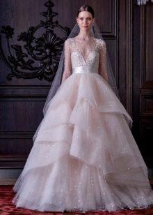 Свадебное платье из органзы от Моник Люльер