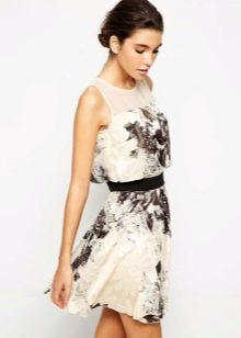 Повседневное платье из органзы