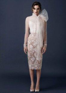 прямое платье с верхом из органзы
