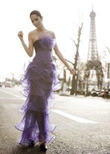 Вечернее платье из органзы прямое