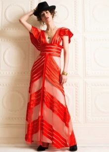 Повседневное платье из органзы в пол