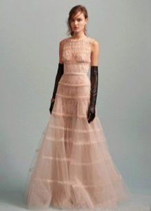 Платье из органзы светлое