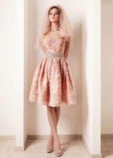 Нежно-персиковое платье
