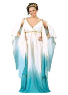 Платье с завышенной талией в греческом стиле для полных