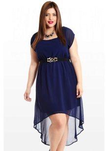 Вечернее платье для полных женщин с завышенной талией