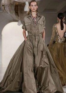 Длинное пышное платье сафари от дизанеров