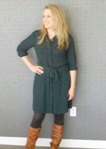Платье-рубашка в стиле сафари