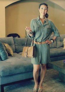 Платье-рубашка сафари