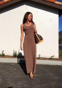 Сумка и туфли к платью шоколадного цвета