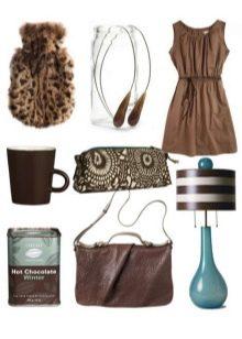 Аксессуары к платью шоколадного цвета