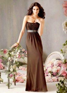 Украшения к длинному платью шоколадного цвета