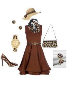 Украшения и аксессуары к платью шоколадного цвета