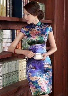 Укладка волос к платью в китайском стиле