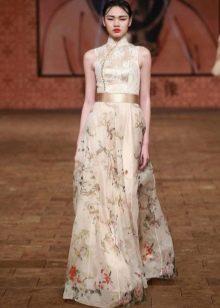 Платье в китайском стиле