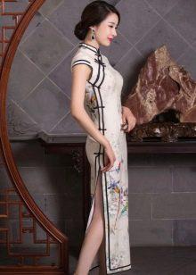 Длинное платье в китайском стиле
