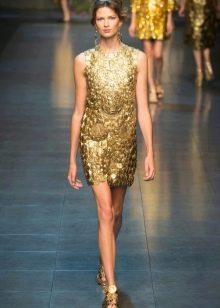 золотое платье в стиле диско