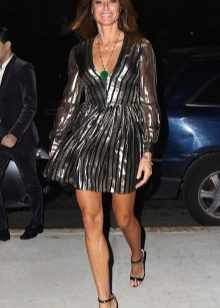 Платье в стиле диско с металлическим блеском