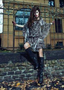 Платье в стиле рок из коттона