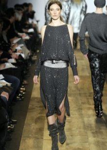 Платье в стиле глэм рок с рукавами