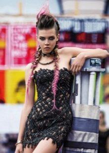 Платье в стиле рок кружевное