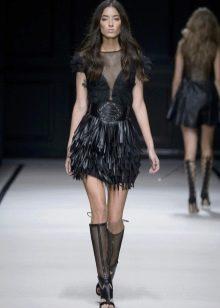 Вечернее платье в стиле рок короткое