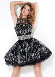 Платье пачка со стразами