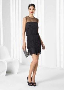 Коктейльное платье с бахромой в стиле Шанель