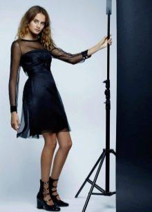 Коктейльное платье с рукавами в стиле Шанель