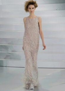 Платье в пол от Шанель прямое