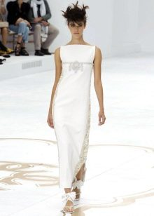 прямое свадебное платье от Шанель