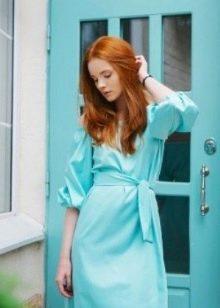 Мятное платье для рыжих