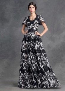 Платье с цветочным принтом А-силуэта