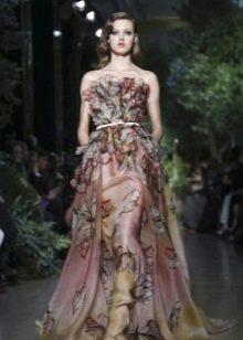 Вечернее платье в цветочек от Эли Сааб