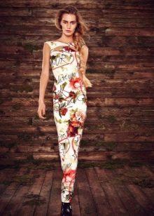 235baff7b5f Белое платье футляр с цветочным принтом в пол