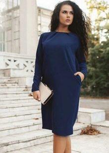 Платье в деловом стиле для полных