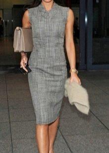 Платья в деловом стиле серого цвета