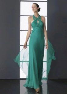 Платье в греческом стиле с бретелью на шее