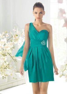 греческое платье на выпускной зеленое