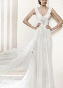 Белое греческое платье с драпировкой