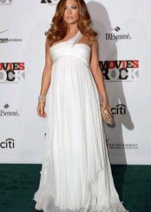 Греческое платье для беременных белое