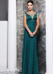 Греческое платье с прозрачными рукавами