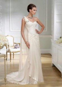Платье в греческом стиле свадебное на одно плечо