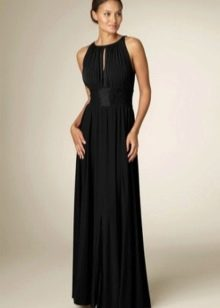 Греческое платье черного цвета