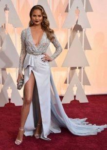Длинное ассиметричное платье