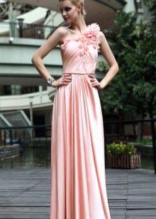 Платье в пол из шелка