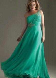 Платье в пол в стиле ампир для полных
