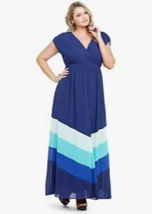 Красивое длинное платье трапеция для полных
