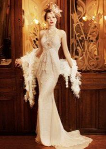 Платье меховым платком в стиле Гэтсби