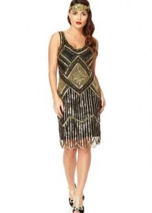 Черно-золотое платье в стиле Гэтсби