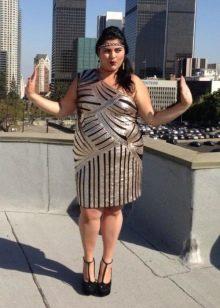 Платье в стиле Гэтсби для полных женщин